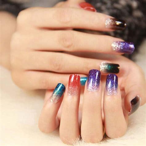 12 Colors Nail Glitter Powder Dust For Uv Gel Acrylic
