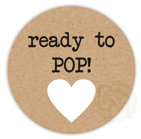 Ready To Pop Baby Shower Stickers ready to pop unisex baby shower stickers black text white