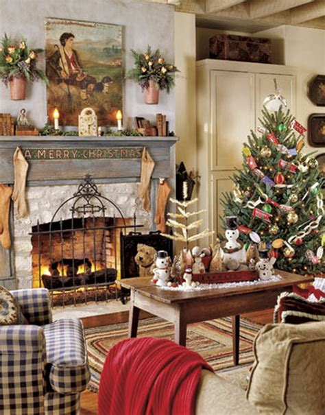 vintage christmas home decor 60 elegant christmas country living room decor ideas