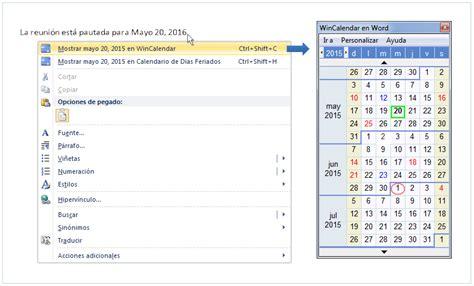Calendario Word Calendario Pop Up Y Selector De Fechas Gratis Para