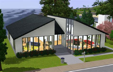Sims 3   Petite maison au 2 toits   Small house with 2