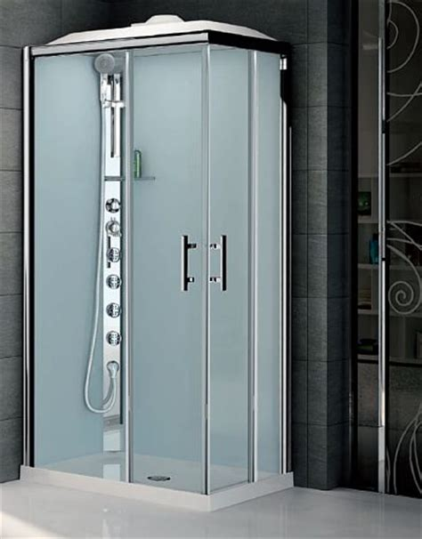 All In One Shower by Novellini Glax 2 Offset Corner Hydro Shower Pod With Jets Leak Free Self