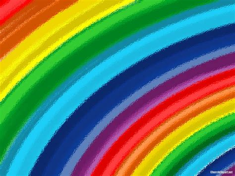 Rainbow Ripple Ppt Template Church Clipart Rainbow Background For Powerpoint