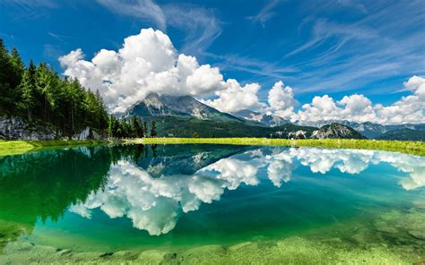 beautiful hd wallpaper clouds sky mountains lake