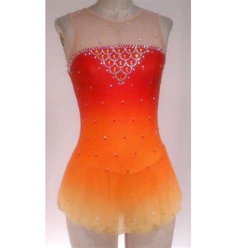 Kung Souvenir Dress Mano Yellow Orange arbour d13b8 n17a yellow orange airbrushed skating dress for figure skating buy
