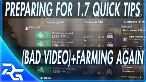 7 Tips To Prepare For A by The Division Tips To Prepare For 1 7 Offering Farming