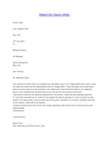 Resignation Letter After Maternity Leave Canada Maternity Leave Letter Template Letter Template 2017
