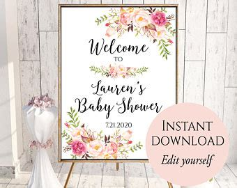 bridal shower welcome sign template baby shower signs blue baby shower signs baby boy
