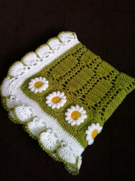 Unique Crochet Baby Blanket by Crochet Baby Blanket Unique Floral Baby Afghan Green