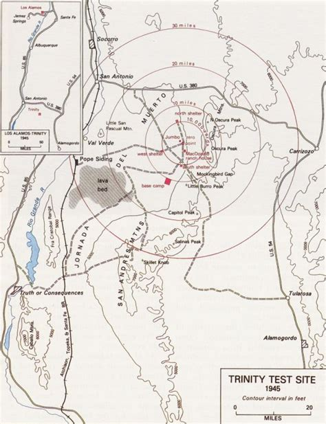 map us nuclear test manhattan project maps