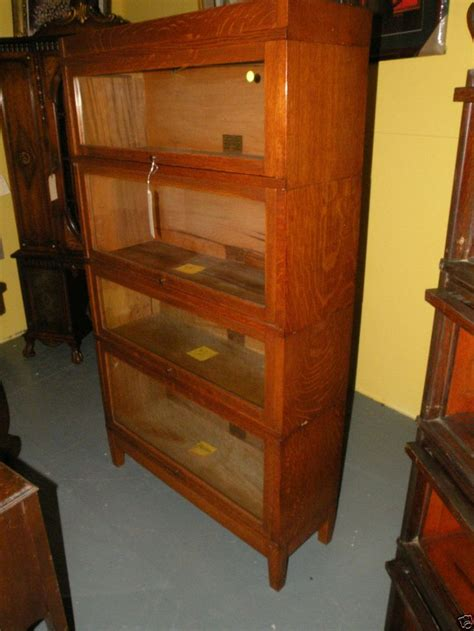 unfinished furniture barrister bookcase antique globe mission oak barrister stacking lawyers