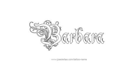 barbara name tattoo designs