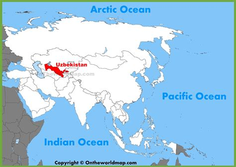 uzbekistan world map uzbekistan location on the asia map