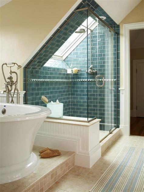 badezimmer ideen 27 design ideen f 252 r badezimmer mit dachschr 228 ge