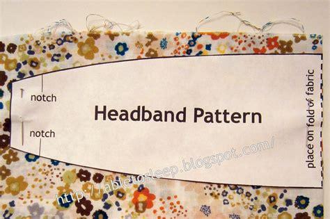 sewing pattern for headbands able to sleep headband tutorial
