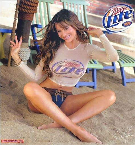 young chest bare girl teen sofia vergara miller lite beer ad refrigerator tool box