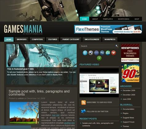 themes of computer games 30 exciting wordpress gaming themes want unfair