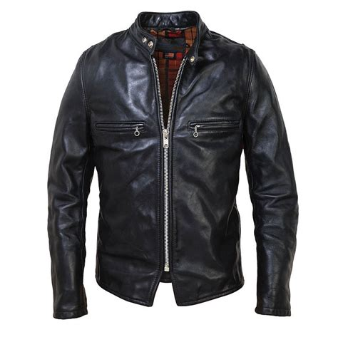 steerhide cafe racer motorcycle jacket by schott nyc