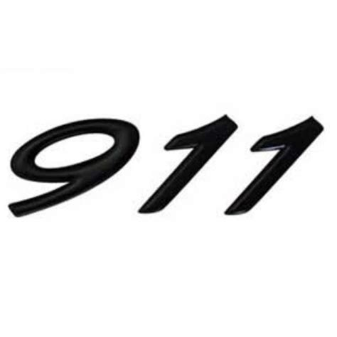 Porsche 911 Logo genuine porsche 911 black logo badge decal ebay