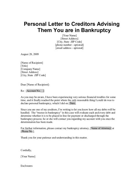 template letters to creditors insolvency letter to creditors template sles letter