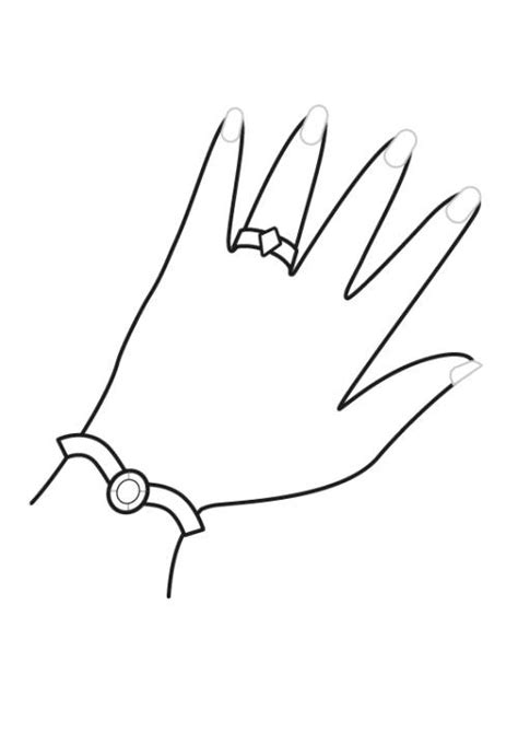 coloring pages of hands with nails kostenlose malvorlage prinzessin prinzessinnen schmuck