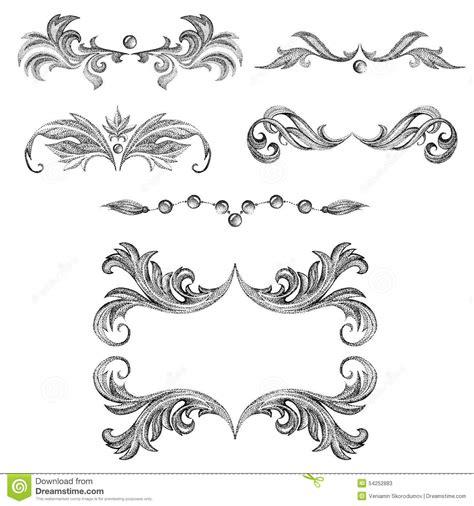 decorative card design a set of decorative frames and design elements floral