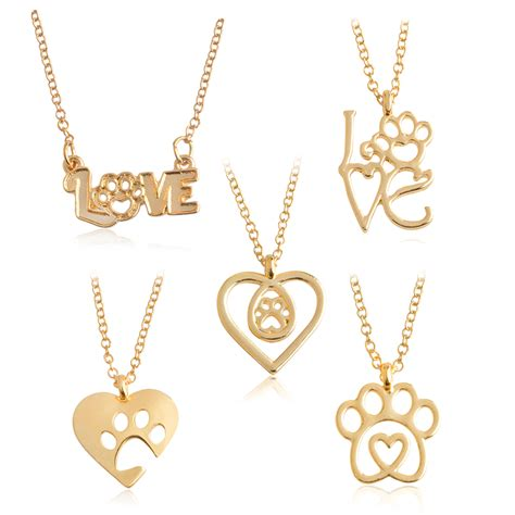 And Paw Necklace i paw necklace gold silver chain hollow paw claw