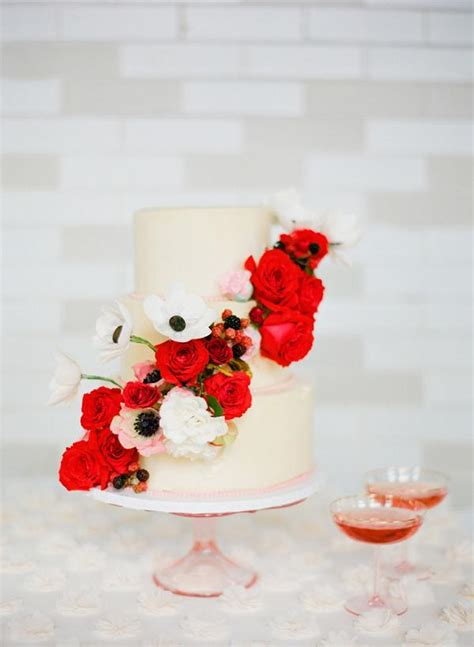 wedding color trends  pantone fiesta red wedding
