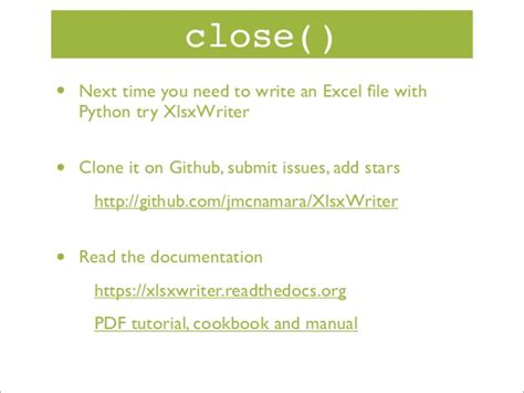 xmllint tutorial creating excel files with python and xlsxwriter