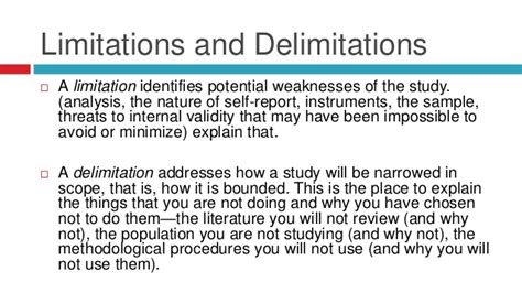 scope and limitation of the study sle thesis limitations of the study thesis sle 28 images