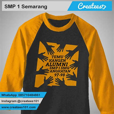 Tshirt Kaos A7 by 17 Kaos Reuni Smp 1 Semarang Createes
