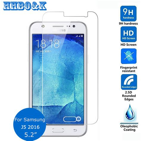 Tempered Glass Samsung J5 2016 Duos J510 J510 G Anti Gores Kaca for samsung galaxy j1 j2 j3 j5 j7 6 2016 duos tempered glass screen protector safety