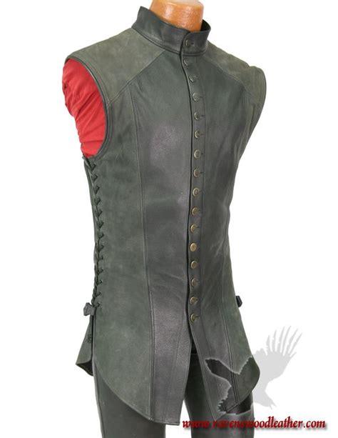 pattern white leather jerkin jerking vest light style men pinterest