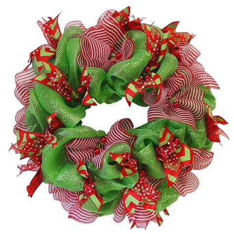 how to add wide mesh ribbon garland to a christmas tree deco poly mesh wreath tutorial using raz cookie decorations deco mesh ribbon wreath tutorial