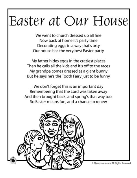 caricatures of my mind simple poems in a complicated world books easter poem easter at our house woo jr activities