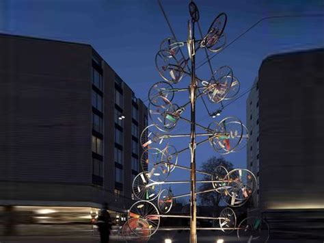 upcycled design inhabitat green design innovation top 10 crazy christmas trees made from bottles bikes