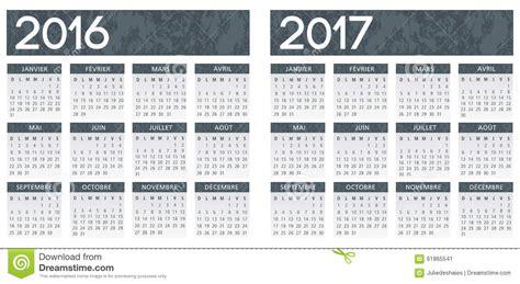 Calendrier 2017 En Francais Calendrier Gris Texturis 233 Fran 231 Ais 2016 2017 Illustration