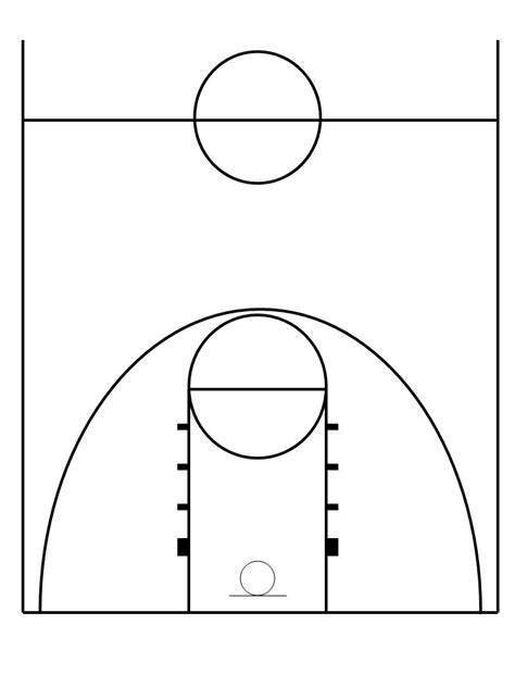 half court basketball template pics of a basketball cliparts co