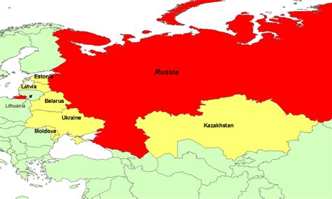 russia map and surrounding countries map of russia and surrounding countries