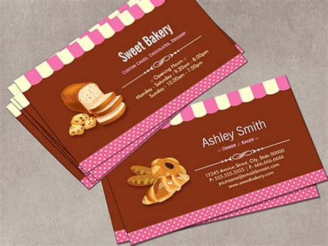 Make Your Own Business Card From 20 000 Designs Bizcardstudio Com Bakery Business Card Template