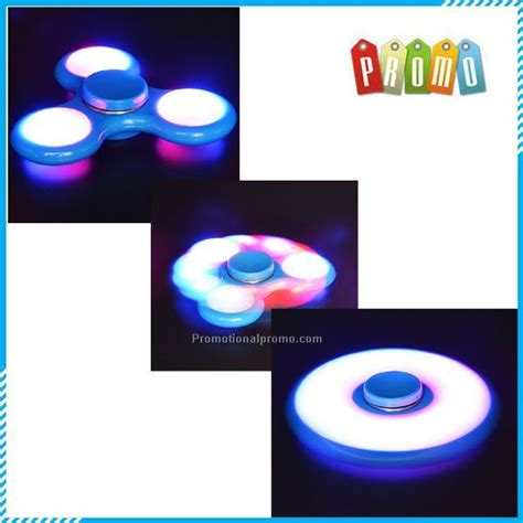 Fidget Spinner Transparan 3 Led Mode Switch Steel Bearing upgraded version sale switch led light tri spinner fidget china wholesale