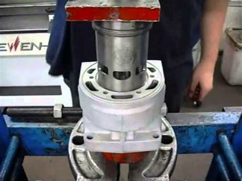 2 stroke cylinder boring machines replacing a 2 stroke atv engine s cylinder sleeve youtube