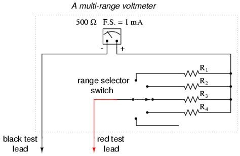 change voltage with resistor voltmeter design dc metering circuits