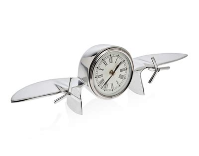 nickel plated desk l nickel plated engine airplane desk clock