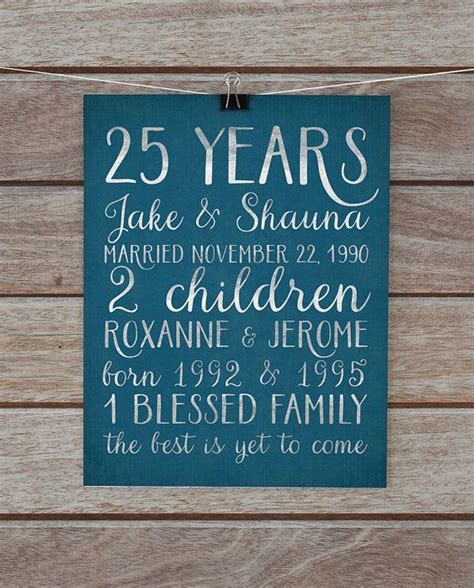 25th wedding anniversary diy gifts best 25 25th anniversary gifts ideas on 40th