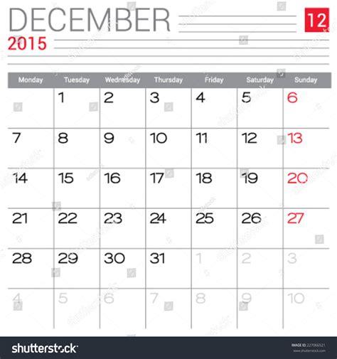blank calendar template vector december 2015 calendar vector design template simple