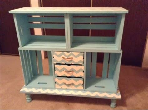 diy chevron crate shelf living space