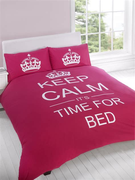 is it time for bed keep calm it s time for bed cerise duvet cover quilt set