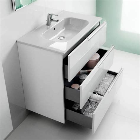 White Bathroom Furniture Uk Roca N 3 Drawer Vanity Unit With Basin Uk Bathrooms
