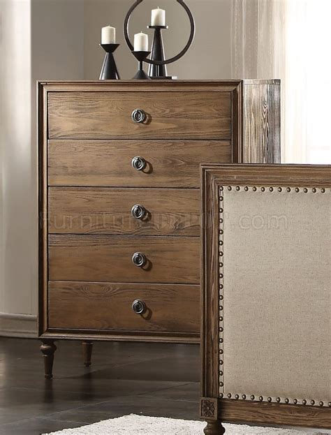 Bedroom Furniture Inverness Inverness Bedroom 26090 In Reclaimed Oak By Acme W Options